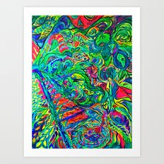 DMT JUNGLE Art Print