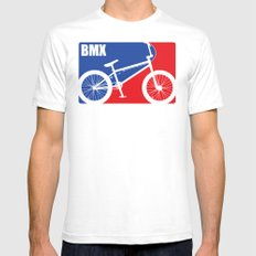 BMX LARGE White Mens Fitted Tee