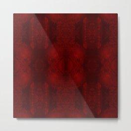 Something Like a Symphony: Red and Black Digital Art Metal Print