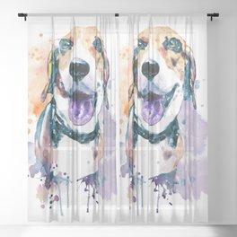 Sweet Beagle Sheer Curtain