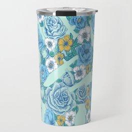 Weapon Floral-Blue Travel Mug