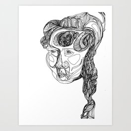 The Carver's Wife Art Print