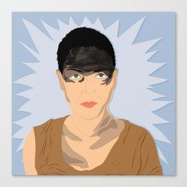 Furiosa (Blue) | Bad Ass Women Series Canvas Print