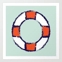 lifeguard buoy aqua #nauticaldecor Art Print