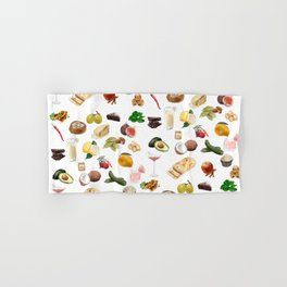 Food Pattern Hand & Bath Towel