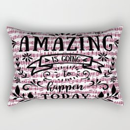 Notes are the building blocks of much written music Rectangular Pillow