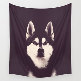 Vintage Oil Painting Husky Dog Special Design for Dog Lovers Wall Tapestry
