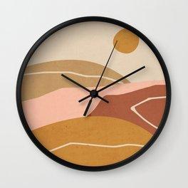 Minimal Abstract Art Landscape 3 Wall Clock