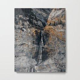 Gray Metal Print