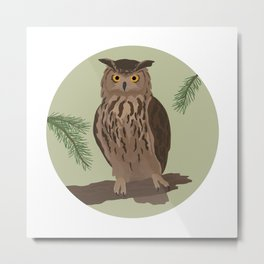 Eurasian Eagle-owl Metal Print