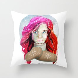 It is getting chilly out there Throw Pillow