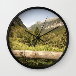 A mountain landscape Wall Clock