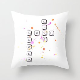Scrabble Love Throw Pillow