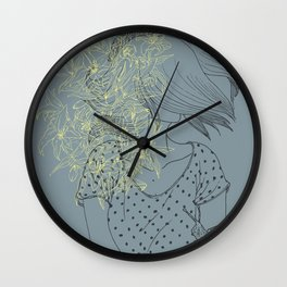Slow and lillies Wall Clock