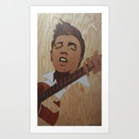 elvis presley Art Prints featuring Elvis Presley  by Andulino