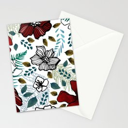 Wild Red Flowers Stationery Cards