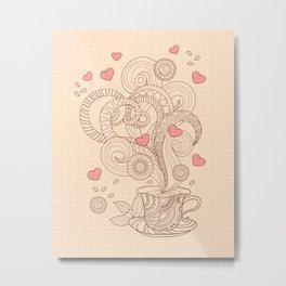 coffee with love Metal Print