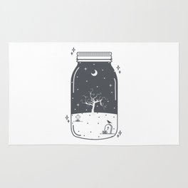 Halloween in a jar Rug
