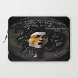 Medusa Head & quote Laptop Sleeve