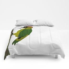 Green Woodpecker Comforters