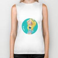 powerpuff girls Biker Tanks featuring The Powerpuff Girls, Today. Bubbles (Fan Art) by The Rabbit Joe by The Rabbit Joe
