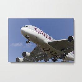 Qatar Airlines Airbus A380 Metal Print