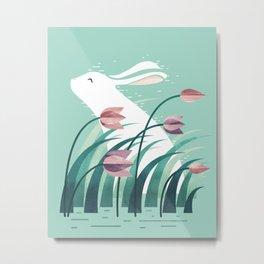 Rabbit, Resting Metal Print
