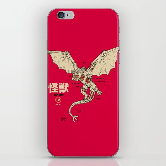 Kaiju Anatomy 2 iPhone & iPod Skin