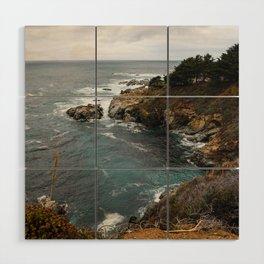 California Coastline Wood Wall Art