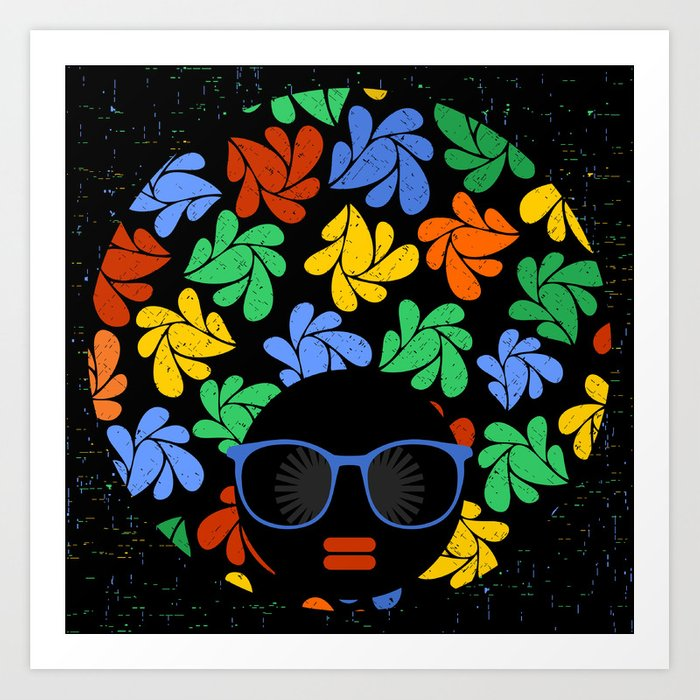 Afro Diva : Colorful Kunstdrucke