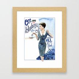 Blueberry Framed Art Print