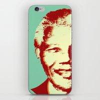mandela iPhone & iPod Skins featuring NELSON MANDELA by mark ashkenazi
