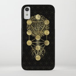 Kabbalah The Tree of Life Gold on Black N2 iPhone Case