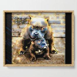 Pit Bull Models: Blue Defender 01-01 Serving Tray