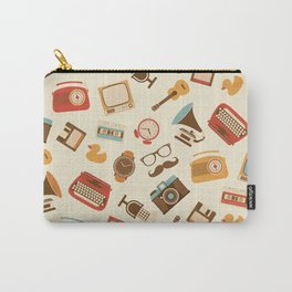 Vintage retro object pattern Carry-All Pouch