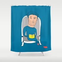 alone Shower Curtains featuring alone by ssongso