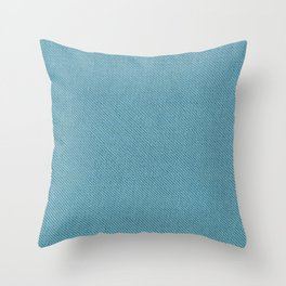 Solid Turquoise Blue Throw Pillow