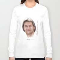 patrick Long Sleeve T-shirts featuring Patrick Swayze by Tribute Portrait