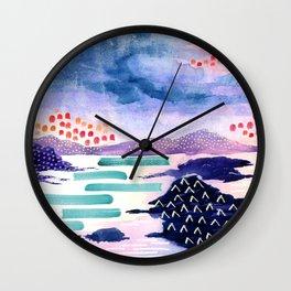 Balmaha Scottish Colourful Watercolour Painting Wall Clock