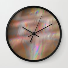 Holographic pattern Wall Clock