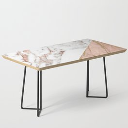 Marble rose gold blended Coffee Table