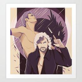 Okada vs. Omega - Chapter II Art Print