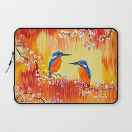 Kingfishers with red, orange and yellow Laptop Sleeve