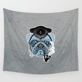Sailor Pug Wall Tapestry