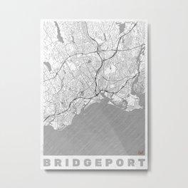 Bridgeport Map Line Metal Print