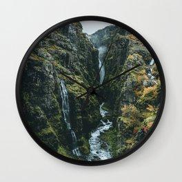 Glymur Falls Wall Clock