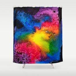 Intergalactic Rainbow Shower Curtain
