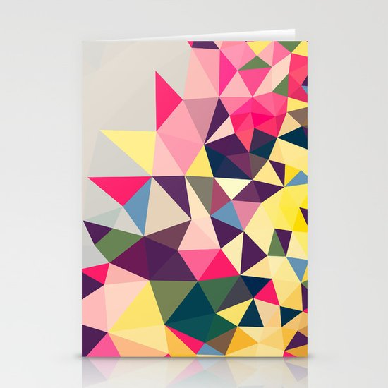 Creeping Tris Stationery Cards