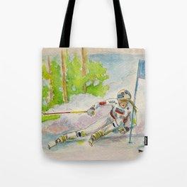 Lindsey Vonn_ Ski Racer Tote Bag
