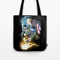 phil jones Tote Bags featuring Phil Coulson by Page Branson
